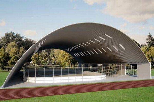 Vizualizácia. V Spišskej Sobote by malo vyrásť hokejbalové ihrisko.
