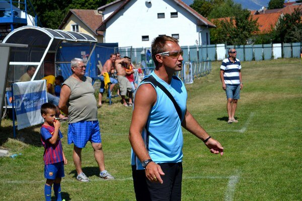 Peter Rataj. Tréner FK Poprad B je s jeseňou spokojný.
