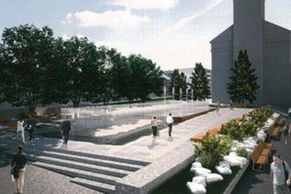 Vizualizácia novej fontány. Takúto podobu má získať na konci leta.