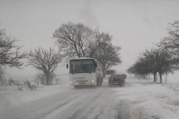 Dnešná situácia na ceste do Kežmarku od Spišského Štvrtka.