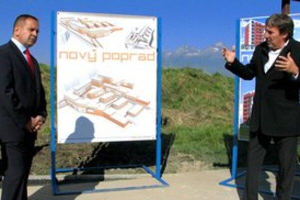 Predstavenie plánov v septembri 2010. Projekt bol súčasťou predvolebnej kampane primátora Popradu Antona Danka.