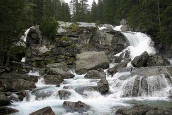 Studenovodské vodopády.