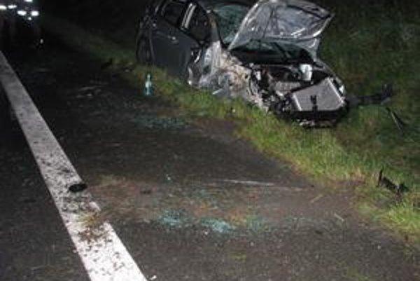 Strieborný golf. Vodič nešťastne zachytil Hozelčana ľavou stranou auta.
