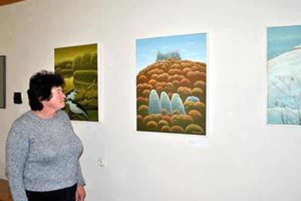 Sviežosť a krása. Cena Vojtekovych obrazov sa pohybuje okolo 1 500 až 2 000 eur.