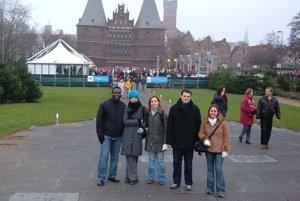 S kamarátmi na výlete v Lübecku počas štúdia v blízkom Hamburgu.