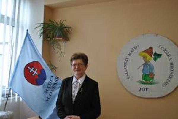 Ľudmila Hrehorčáková, predsedníčka miestneho odboru Matice slovenskej v Poprade.