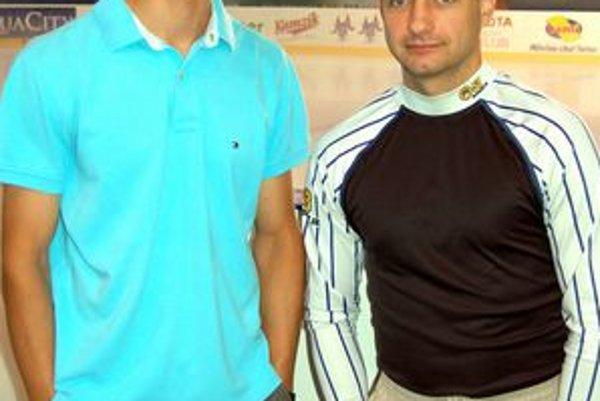 Brankári. Marcel Melicherčík (zľava) a Martin Klempa.