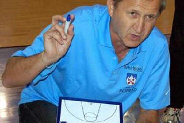 Tréner Ján Krajňák. Verí v dobrý výkon proti Ružomberku.