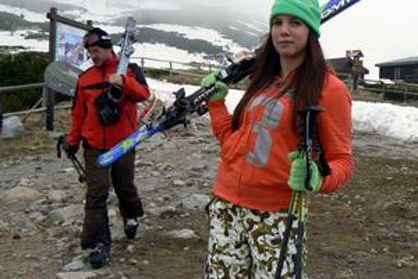 Natália Šomorová. O lyžovačke na snehu, keď už v dolinách kvitnú púpavy, hovorí ako čarovnom zážitku.