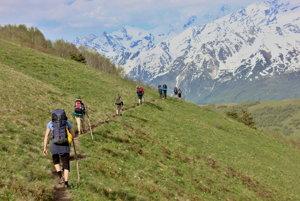 Trek v kaukazskom regióne Svaneti.