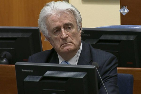 Bývalý bosnianskosrbský prezident Radovan Karadžič.