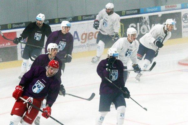 S tímom sa pripravuje aj Nitran Marek Tvrdoň (vpredu vľavo), ktorý má skúsenosti zo zámoria.