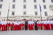 Slovenskí olympionici pred odchodom do Ria.