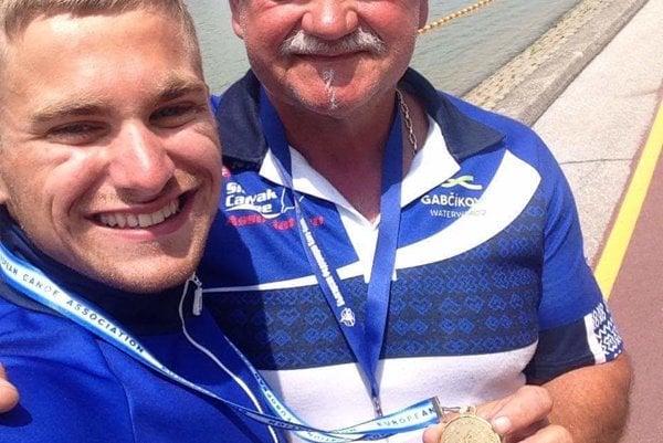 Martin Nemček s trénerom.