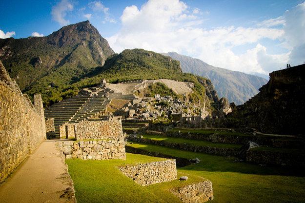 Machu Picchu z menej známeho pohľadu.