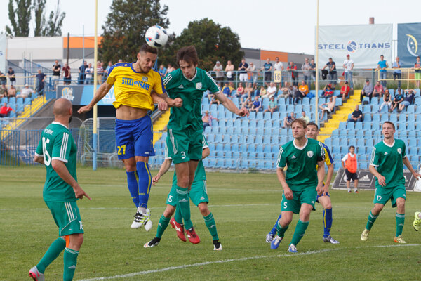 Záber z vydareného stretnutia v Prešove pri remíze 0:0.