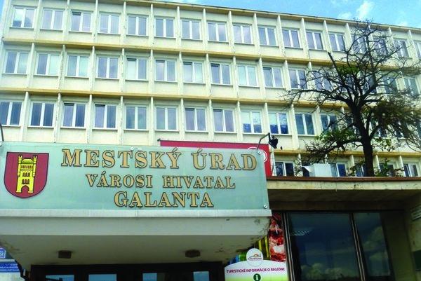 Mestský úrad v Galante.