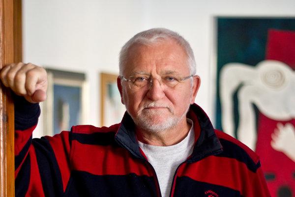 Podnikateľ a kritik Smeru Bohumil Hanzel sa venuje umeniu.