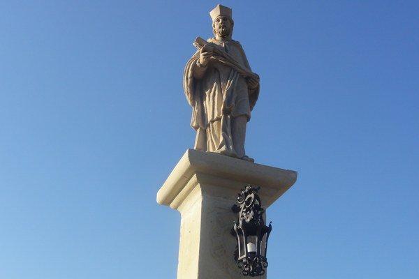 Socha svätého Jána Nepomuckého na Zúgove.