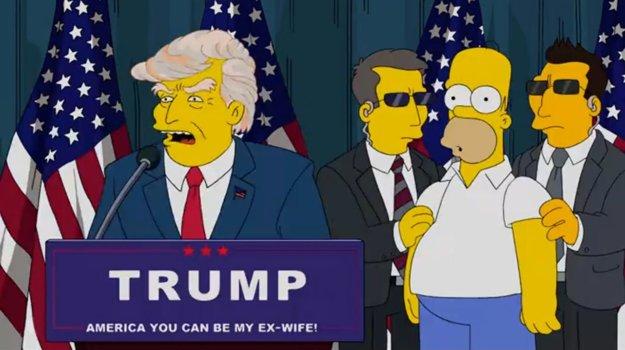 O Trumpovi už bola v Simpsonovcoch reč.