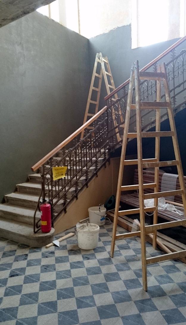 Obnova budovy mestského úradu.