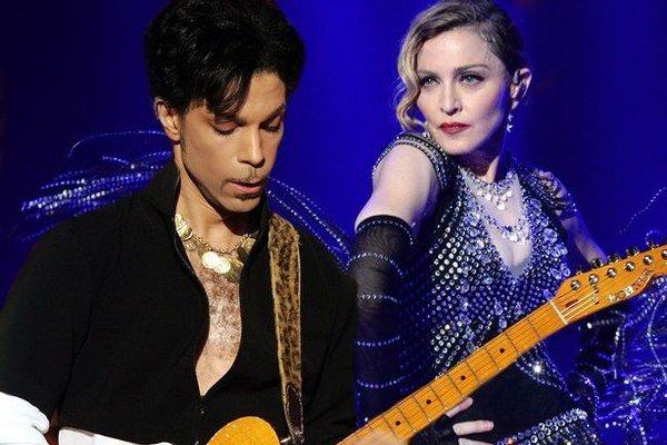 Madonna a Prince. V minulosti spolupracovali na úspešnom albume Like A Prayer.
