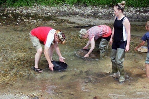 Drobné zlatinky hľadali zlatokopi v Tužine.