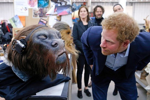Kráľovský fanúšik. Princ Harry si omrkol rekvizity.