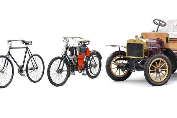 Od bicykla cez motocykel k autu. Predchodcom dnešnej firmy Škoda Auto bola spoločnosť Laurin & Klement, ktorá bola založená v roku 1895.