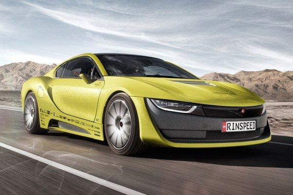 Štúdia Etos švajčiarskej firmy Rinspeed. Etos, odvodený od modelu BMW i8, má svetovú premiéru na výstave spotrebnej elektroniky v americkom Las Vegas.