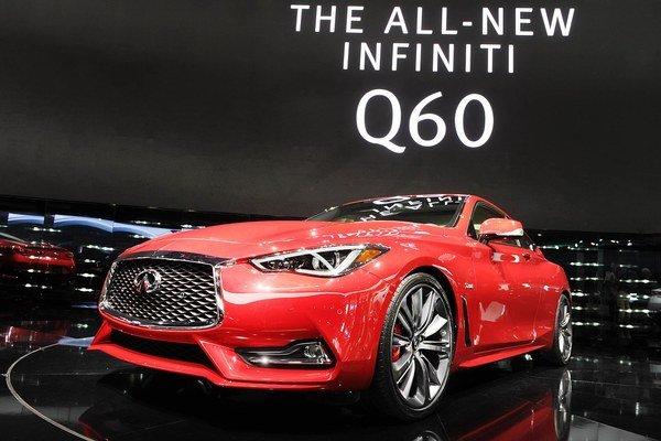 Nové kupé Infiniti Q60. Kupé, ktoré je nástupcom modelu G37, má svetovú premiéru na práve prebiehajúcom autosalóne v Detroite.