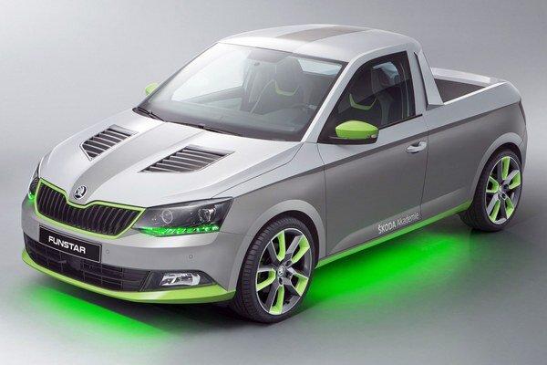Učňovský pikap Škoda FUNstar. Originálny pikap bude mať premiéru na veľkom stretnutí fanúšikov športových automobilov, ktoré sa bude konať na budúci týždeň.
