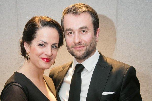 Vlado s manželkou Alenou. Aj hercova polovička sa podieľa na Búrlivom víne, ako kostýmová výtvarníčka.