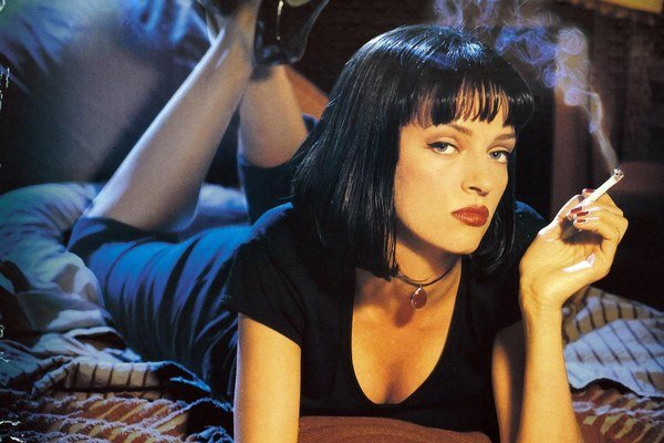 Uma Thurman v kultovom filme Pulp Fiction.