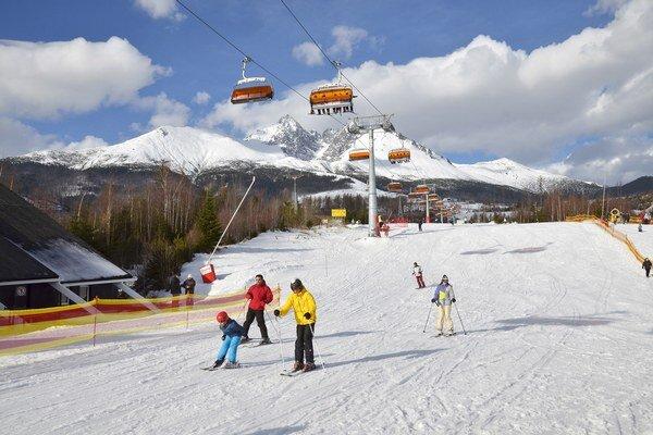 Deti si môžu užiť aj lyžovačku.