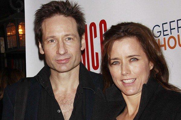 Americký herec David Duchovny a jeho už ex manželka, takisto herečka Téa Leoni.