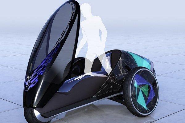 Jednomiestne vozidlo FV2. Vozidlo nemá volant, vodič ho riadi intuitívnymi pohybmi svojho tela.