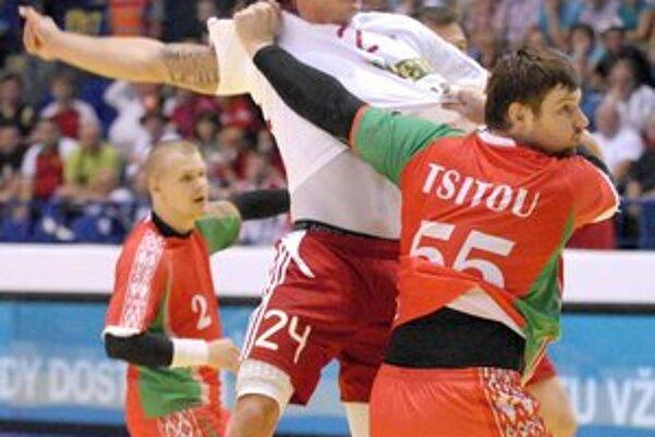Martin Straňovský. Proti Bielorusom to mal ťažké.