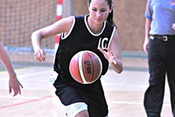 Najužitočnejšia hráčka Michaloviec Katarína Fiedlerová.
