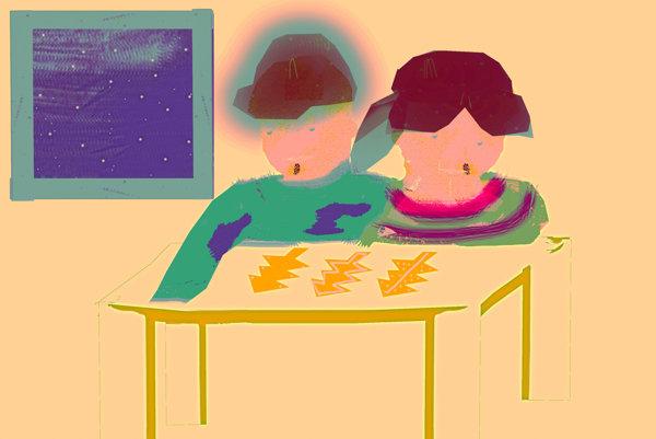 Ilustrácia k vianočnej poviedke Dar.