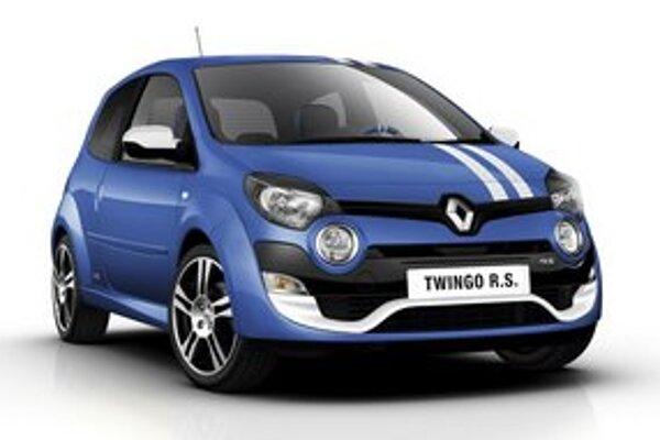 Renault Twingo RS Gordini. Twingo RS sa dodáva aj v úprave Gordini, ktorá má na prednej kapote dva biele pruhy.