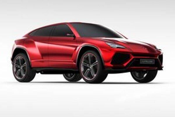 Koncepčný Lamborghini Urus. Urus predstavuje víziu superluxusného športovo-úžitkového vozila.