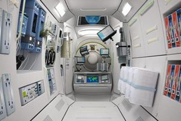 Interiér vesmírneho hotela. Päťdňový pobyt vo vesmírnom  hoteli bude stáť okolo milióna dolárov.