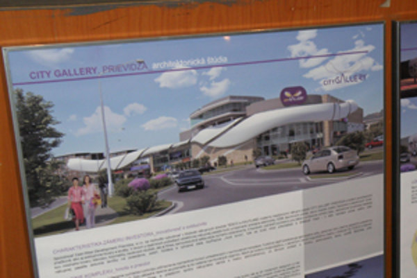 Projekt City Gallery bol pred poslancami prievidzského zastupiteľstva prezentovaný ešte v roku 2009.