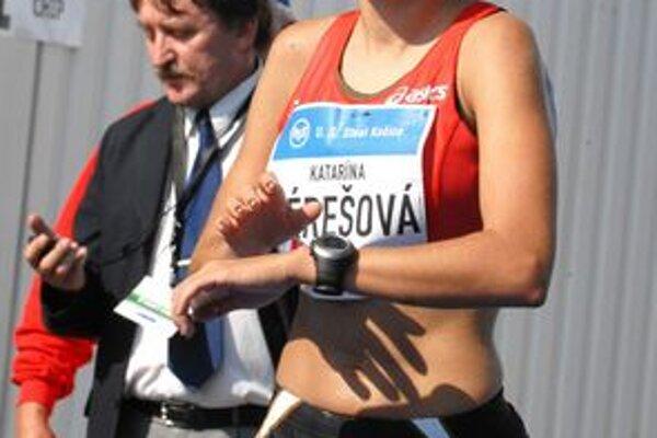 Katarína Berešová. Už sa môže pomaly tešiť na olympiádu.