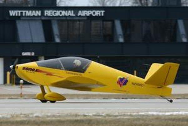 Lietadlo Sonex Waiex. Pohonnou jednotkou tohto experimentálneho lietadla je elektromotor výkonu 54 kW.