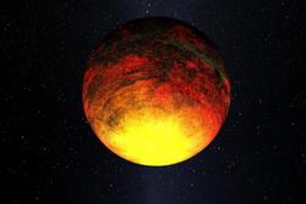 Kresba exoplanéty Kepler-10b. Táto exoplanéta, ktorú objavila sonda Kepler, má 1,4-krát väčší priemer ako naša Zem.
