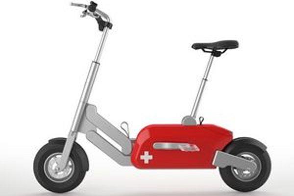 Skladací bicykel Voltitude. Čím viac cyklista šliape do pedálov, tým viac mu elektromotor pomáha.