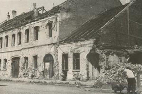 Prešov po bombardovaní. Taká bola podoba Prešova na konci 2.svetovej vojny.