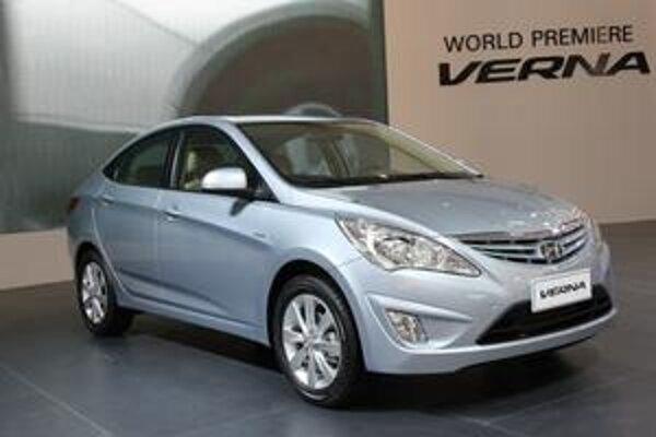 Nový Hyundai Verna. Vozidlo bolo vyvinuté špeciálne pre čínsky trh.
